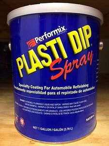 Performix Plasti Dip 1 Gallon Matte Gunmetal Gray Spray thinned