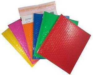 Case Of 100 Red 5 10 5 x15 Bubble Mailers Padded Envelopes Shiny Shippers