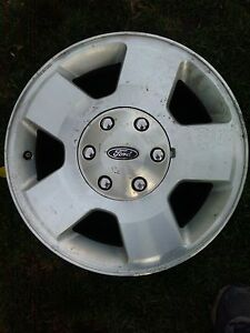 Ford Factory Oem Aluminum 18 Inch Wheels And Ford Center Caps 2004 To 2016