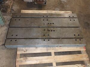 44 X 24 X 4 Steel Welding T slotted Table Cast Iron 4 Slot Jig_weld Table