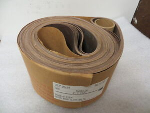 4 X 132 Resin Bond Cloth Sanding Belts 3m 320x Grit 10 Pcs New U s a