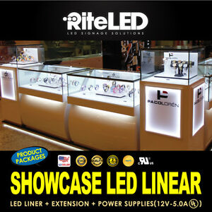 Led Showcase Display Lighting 6ft Kit 3000 4000 6000 9000k Top Quality Bright