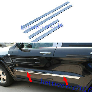 Abs Chrome Body Side Molding Line Cover Trim Fits 2011 2013 Jeep Grand Cherokee