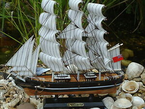 Model Cutty Sark Ship On Stand Made From Wood Lots Of Detail Maritime Boat