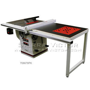 Jet Deluxe Xacta Saw 3hp 1ph 50 Rip With Downdraft Table 708678pk