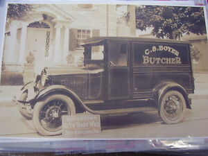 1928 29 Ford Truck Boyertown Pa Body Works 11 X 17 Photo Picture