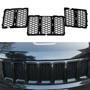 Fit Jeep Grand Cherokee 2014 Black Honeycomb Mesh Grille Insert Trim Accessories