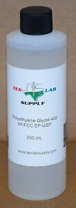 Tex Lab Supply Polyethylene Glycol 400 peg 400 Nf fcc ep usp 250 Ml