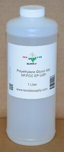 Tex Lab Supply Polyethylene Glycol 400 peg 400 Nf fcc ep usp 1 Liter