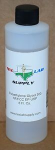 Tex Lab Supply Polyethylene Glycol 300 peg 300 Nf fcc ep usp 8 Fl Oz