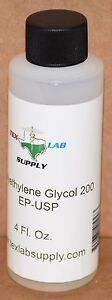 Tex Lab Supply Polyethylene Glycol 200 peg 200 Nf fcc ep usp 4 Fl Oz