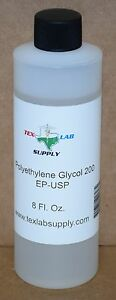 Tex Lab Supply Polyethylene Glycol 200 peg 200 Nf fcc ep usp 8 45 Fl Oz