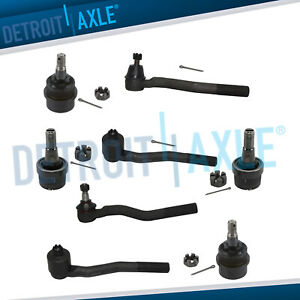 All 4 Front Upper Lower Ball Joints All 4 Tie Rod Ends Grand Cherokee