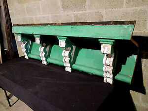 Large Soffit With 4 Corbels Wall Shelf Mantle Architectural Salvage