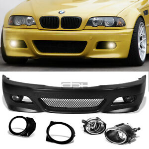 Fit 99 06 E46 3series Non M M3 Style Replacement Front Bumper Body Kit Fog Light