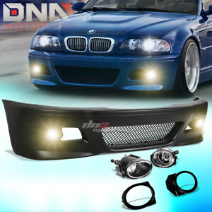 For 99 06 E46 3series Non m M3 Style Abs Front Bumper Cover Body Kit fog Light