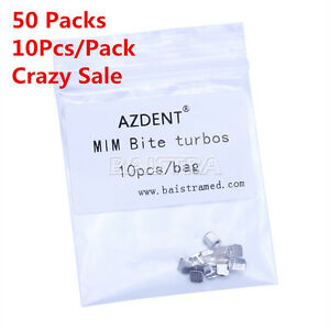 Azdent 50x Mim Bite Turbos Dental Ortho Archwire Brace Buccal Tube Molar Band Us