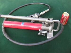 Heavy Duty Manual Hydraulic Pump W Heavy Crimper Attached Us Made