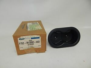New Oem 97 02 Ford 2nd Row Seat Floor Console Twin Cupholder Cup Holder Black