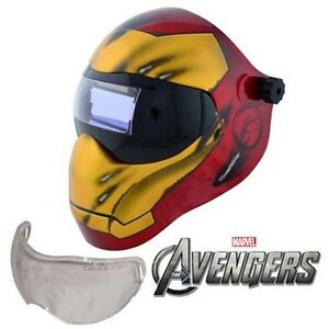 New Save Phace Efp i Series Welding Helmet Marvel Iron Man 180 4 9 13 Adf Lens