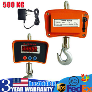 500 Kg 1100 Lbs Industrial Hanging Digital Crane Scale Industrial Heavy Duty Usa
