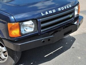 Land Rover Discovery 2 1999 2004 Heavy Duty Front Steel Bumper With Winch Mount