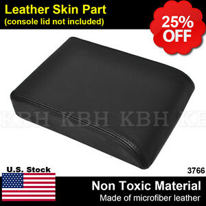 Leather Armrest Center Console Lid Cover Skin Fits 2008 2012 Ford Escape Black