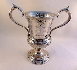 Ornate Gorham Coin Silver 2 Handled Cup 6