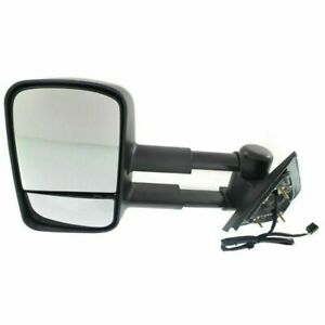 New Driver Side Power Heated Tow Mirror Without Signal For Chevy Truck 2007 2014