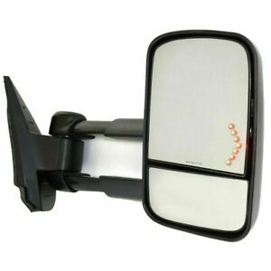 New Passenger Side Power Heated Tow Mirror W O Signal For Chevy Trucks 2007 2014