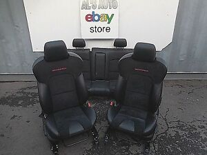 06 09 Mazda 3 Mazdaspeed Leather Suede Seats Red Stitching Bucket Manual Oem
