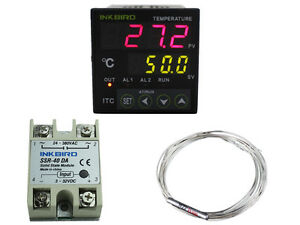 12v 24v Digital Pid Temperature Controller 40 Ssr Pt100 Thermostat Brewing