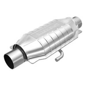 Magnaflow 94016 High flow Catalytic Converter Oval 2 5 In out W Air Tube
