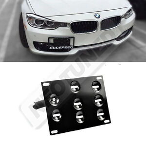 Rev9 Bmw 3 Series 12 15 F30 Front Bumper Tow Hook License Plate Mounting Kit