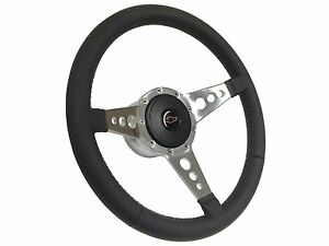 1957 1968 Chevy S9 Sport Steering Wheel Kit Red Bow Tie 3 Spoke holes