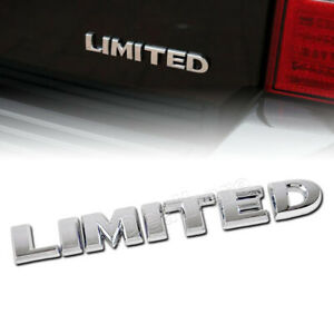 New Abs Limited Car Emblem Badge Sticker Decal Fit For Toyota Ford Jeep Silver