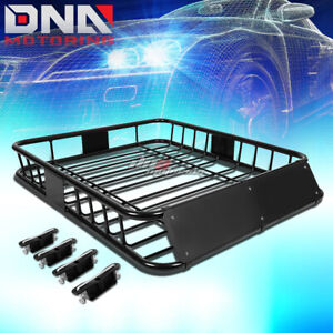 48 x 40 roof Rack Top Cargo Baggage Carrier Basket wind Fairing deflector Black
