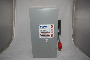 Eaton Heavy Duty Safety Switch 30 Amp 600 Volt 3 Pole Non fusible Dh361ugk