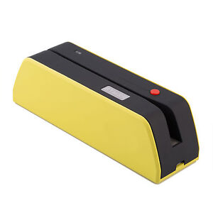 Msr x6btusb Magnetic Stripe Credit Reader Writer Encoder 1 3 Size Of Msr Yellow