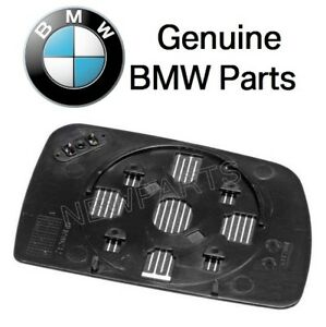 For Bmw E53 X5 00 06 Driver Left Heated Door Mirror Glass Genuine 51168408797