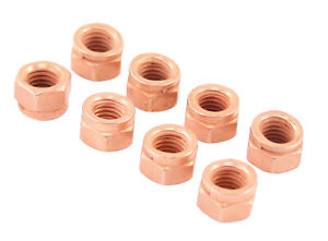 Vw Type 1 Type 2 Copper Exhaust Nut Kit 8mm X 1 25 Pack Of 8