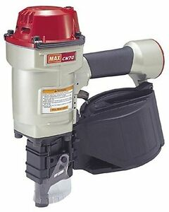 Max Cn70 1 3 4 inch To 2 3 4 inch Heavy Duty Coil Nailer For Siding Pallets