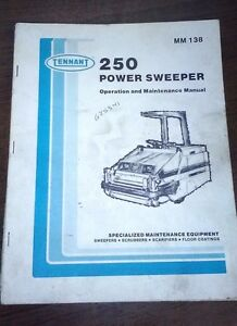Tennant 250 Power Sweeper Operation And Maintenance Manual