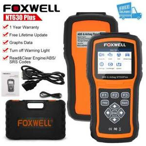 Foxwell Abs Sas Srs Reset Tool Engine Code Reader Obd2 Car Diagnostic Scanner