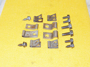 1968 1969 1970 Mustang Mach 1 Gt Boss Shelby Cougar Orig Brake Fuel Line Clips