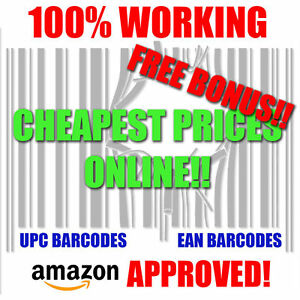 Upc Barcodes Numbers Barcode Ean Bar Code Amazon Approved Lifetime Guarantee