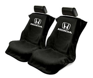 Seat Armour Universal Black Towel Front Seat Covers For Honda pair