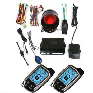 Car 2 Way Alarm System Security Anti Theft Lcd Super Long Distance Controlers