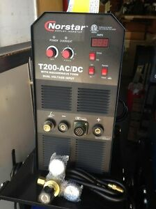 Norstar T200 Ac dc Premium Smaw Gtaw Tig And Stick Welding Machine For Aluminum