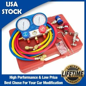 New Ac Refrigeration Kit A C Manifold Gauge Set Air R12 R22 R134a 410a R404z Us